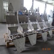Egyedi szálcsiszolt rozsdamentes székváz